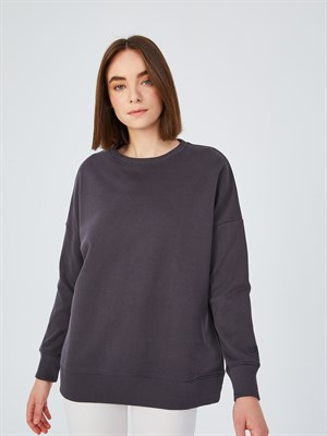 Up & Fit Dark Silver Sweatshirt