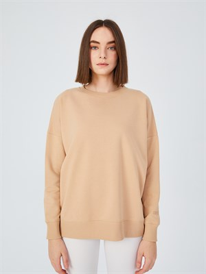 Up & Fit Beige Sweatshirt