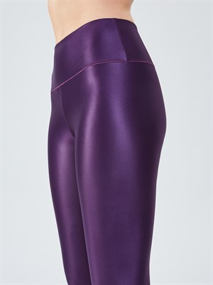 UP&FIT LeatherX Plum Legging