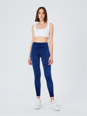 UP&FIT Velvet Navy Blue Legging