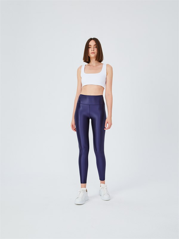 UP&FIT LeatherX Midnight Legging